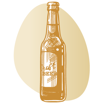 drawing of bottle of beer