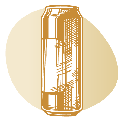 drawing of can of beer