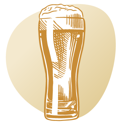 drawing of tall beer glass