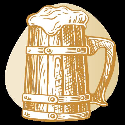 drawing of wooden mug
